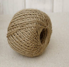 Jute Twine Ball 800/' 2 Rolls 2 Ply Natural Refill Rope Ties Hobby Craft String