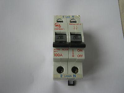 M2 100 Amp M2100 AC22 BS 60947 mainswitch