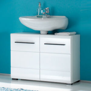 Waschbeckenunterschrank Fitness Bad Unterschrank Badezimmer weiß ...