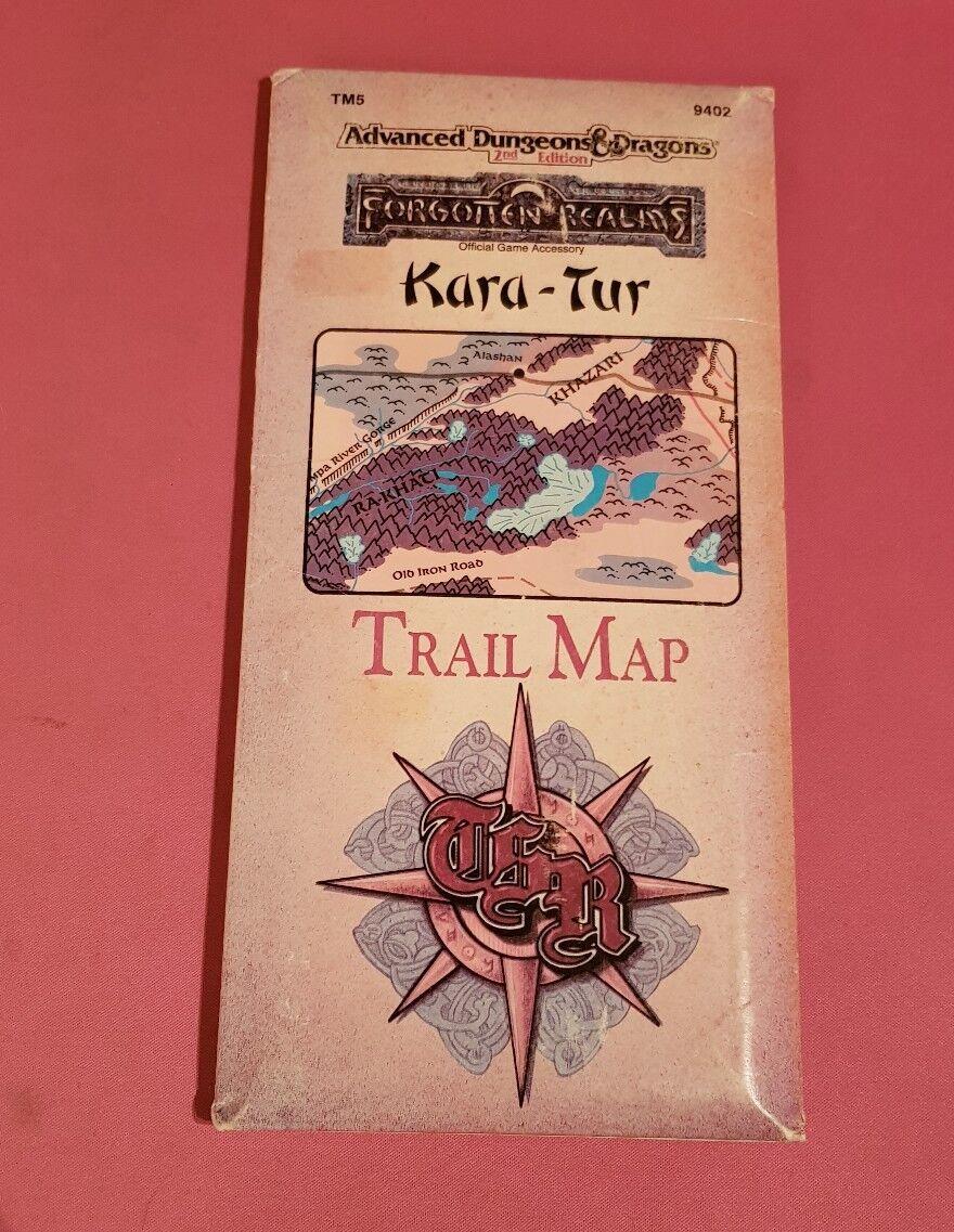 KARA-TUR TRAIL MAP - ADVANCED DUNGEONS & DRAGONS 2ND FORGOTTEN FORGOTTEN FORGOTTEN REALMS RPG OSR b62836