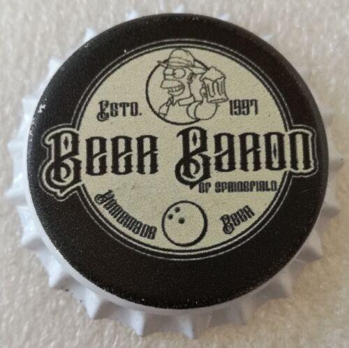 Fantasy Novelty Uncrimped Beer Bottle Cap Beer Baron Homer Simpson The Simpsons