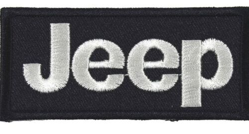 Patch Written Embroidery Jeep cm 8,8 x 4 Fusible