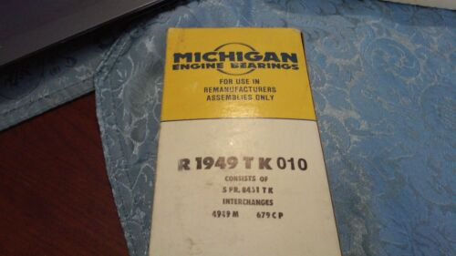 4949M MS1084P Michigan engine bearings Main Bearings R1949TK .010 - 679CP