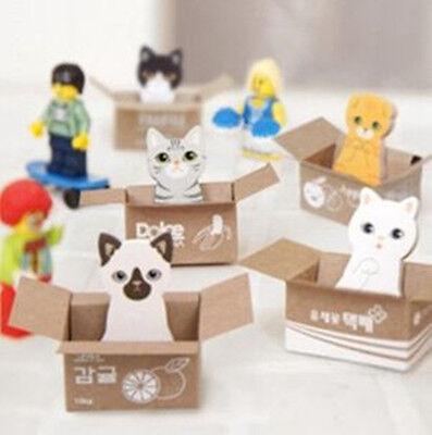 Kawaii Korean Stationery Kitty House Animal Sticky Memo Paper Cute Post Notes