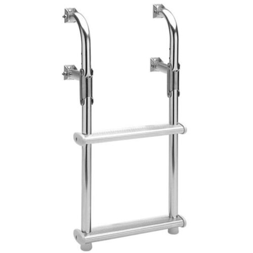 Garelick 18018 Compact Step Flip Up Transom Ladder 3 Steps