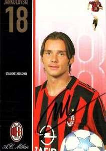 Ac-Milan-Cartolina-Ufficiale-2005-06-n-18-JANKULOVSKI-Nuovissima-con-Autografo