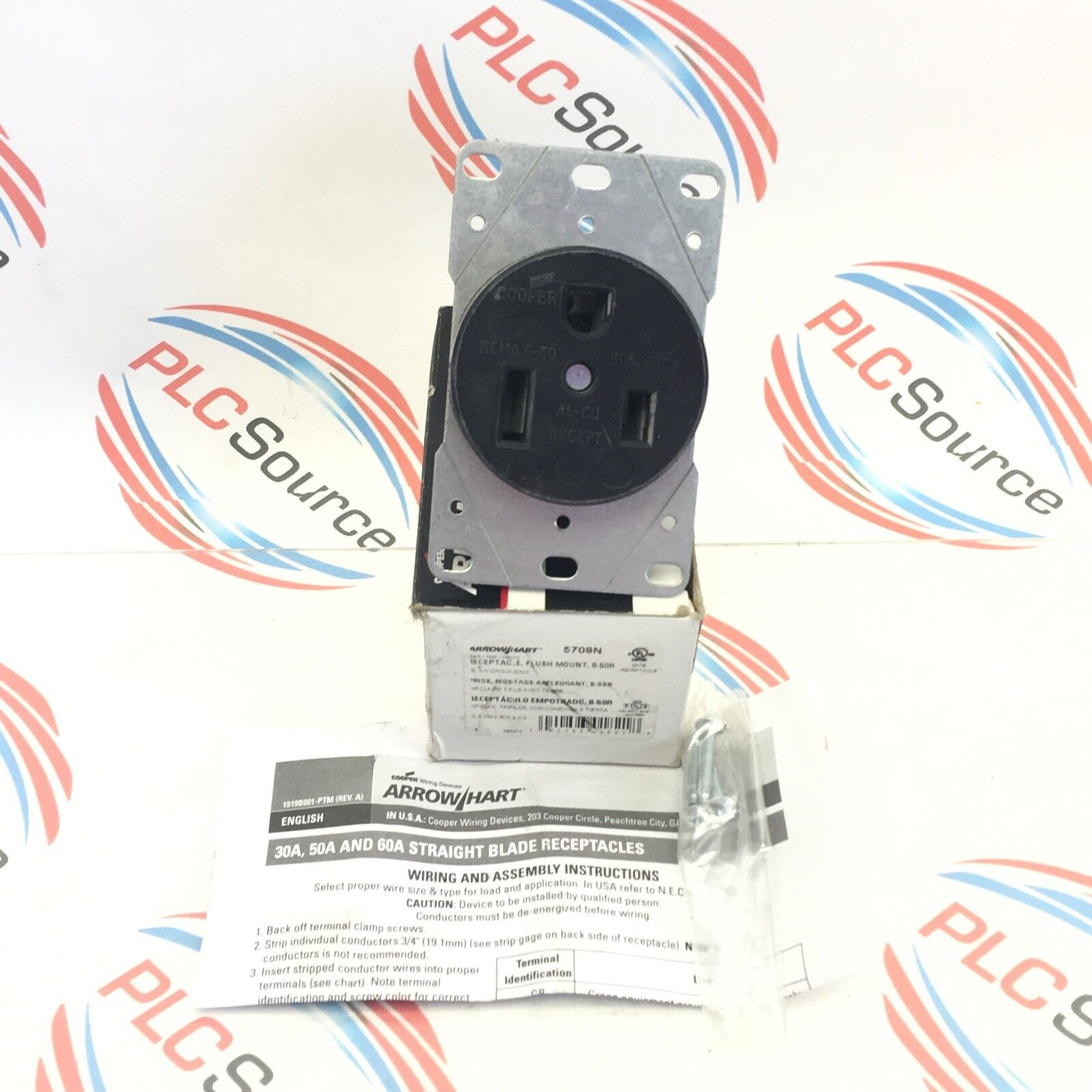 Cooper Arrow Hart 5709n Flush Mount Receptacle 6 50r Ebay Wiring Devices Norton Secured Powered By Verisign