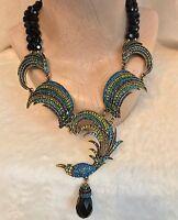 Rare Heidi Daus for The Birds Necklace In Black