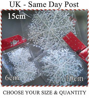 Frozen Christmas Decorations.Iridescent Snowflake Christmas Decorations Winter Frozen Festival Ornaments Ebay