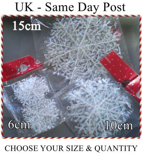 Iridescent Snowflake Christmas Decorations Winter Frozen Festival Ornaments