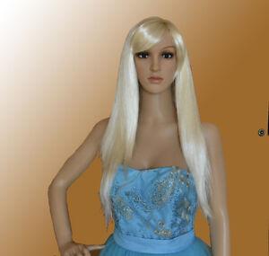 Perruque-Lisse-Longueur-de-L-039-Epaule-Femme-Soiree-Carnaval-Cheveux-Synthetiques