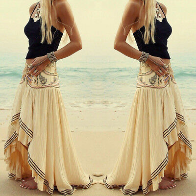 Sexy Women Summer Boho Long Maxi Evening Party Dress Beach Dresses Sundress