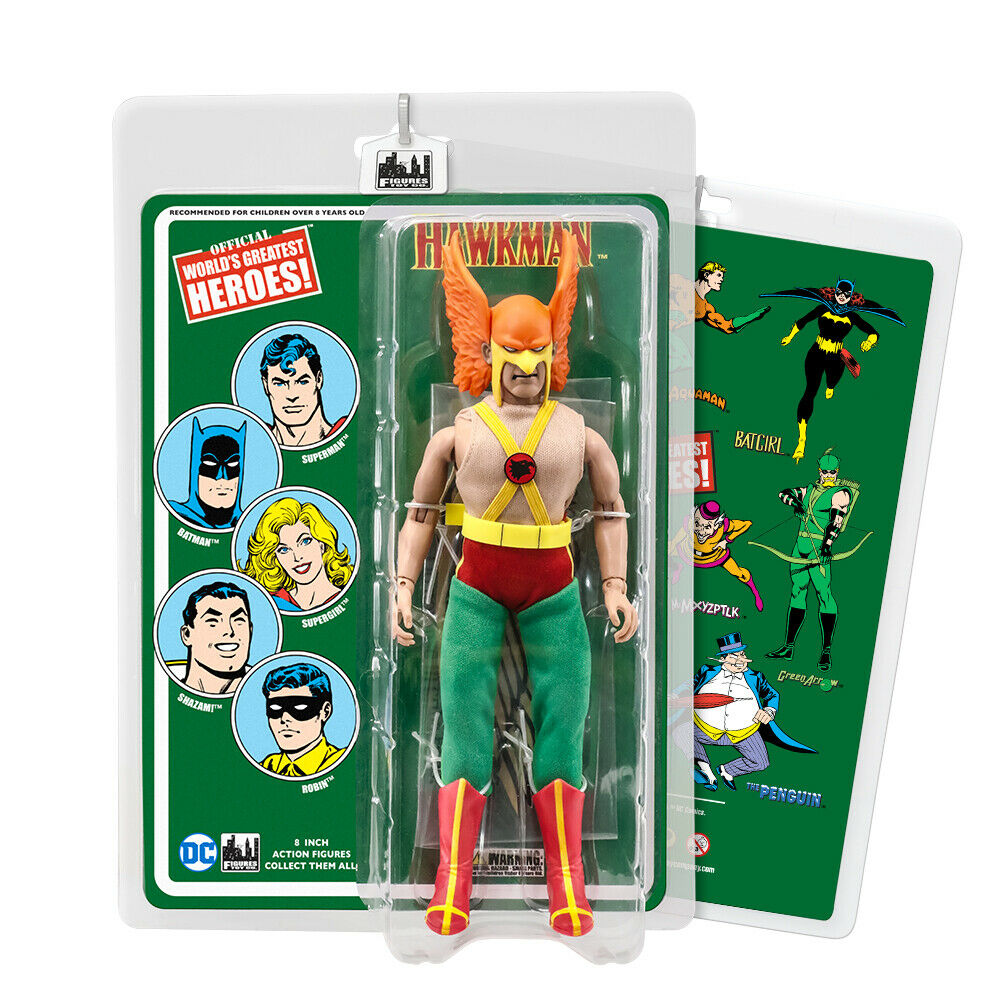 DC Comics 8 Inch Action Figures with Retro Cards  Hawkman