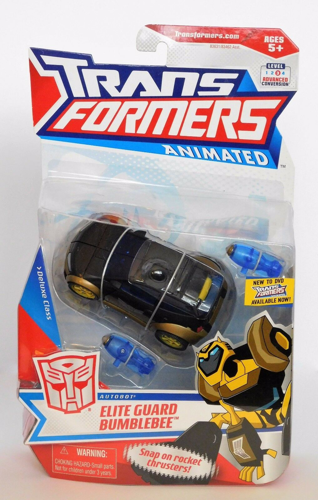 2008 TRANSFORMERS ANIMATED ELITE GUARD BUMBLEBEE Autobot Deluxe Class L3_C8+ MOC