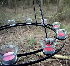 Teelichthalter Teelicht Kronleuchter Für Den Garten Oder Rundzeit