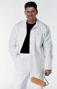 FFJ Painters Jacket Decorators Work Coat Painting White Cotton