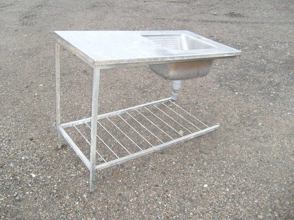 Vaskbord rustfri - storkøkken L118 H91 D62