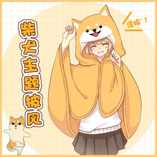 Details about  /Anime Dog Husky Theme Plush Cloak Couples Pajamas Warm Blanket Cosy 145x85cm