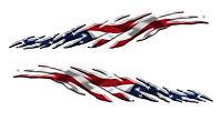 Motorcycle Decals Stickers Kit Yamaha Kawasaki Honda Harley Davidson Usa Flag