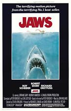 Jaws Style A 11 x 17 inches  Movie Poster Print  Roy Scheider, Richard Dreyfuss