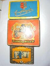 26267 3x Blechdose Zigaretten Senoussi Patrizierclub Ernst August cigarette tin