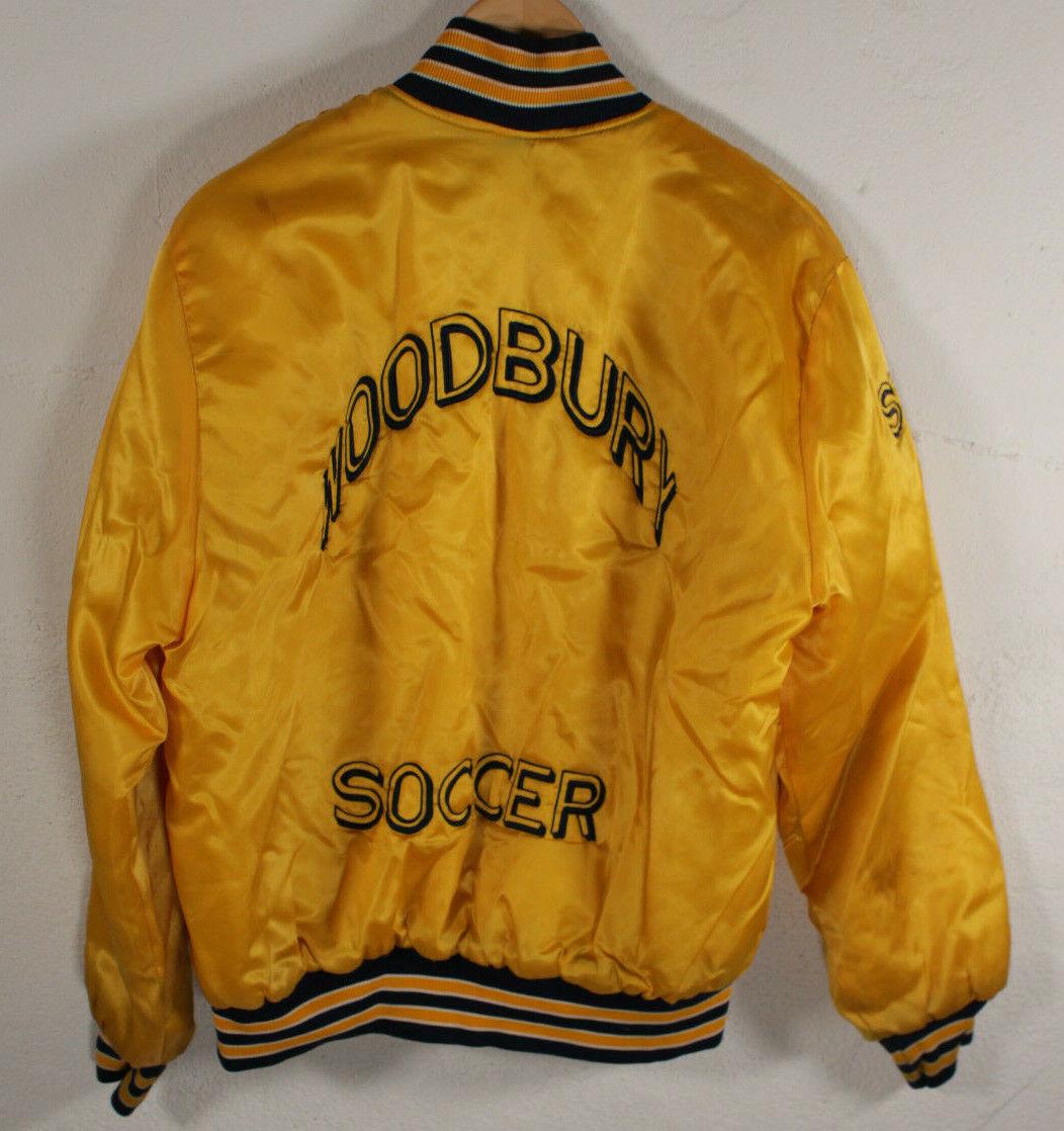 Size M 70s Vintage Leader Sportswear Half Quarter Talon Zip Bomber Varsity Jacket Made in USA