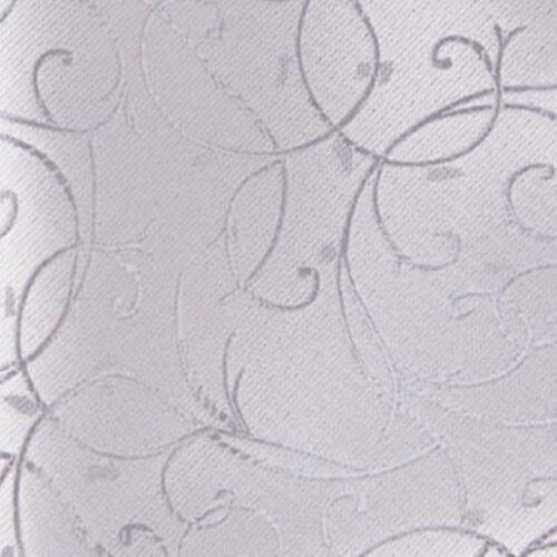 DQT Woven Swirl Patterned Silver Formal Mens Wedding Waistcoat S-5XL