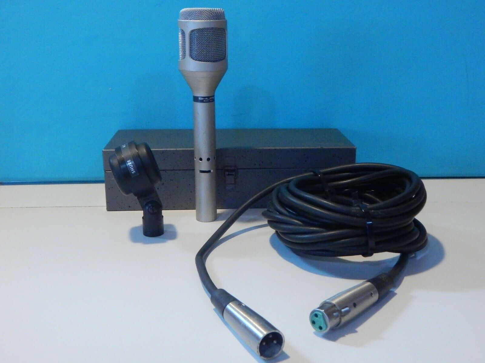 Vintage 1980S Shure SM54 Dynamic Unidirectional Studio Microphone & Accessories