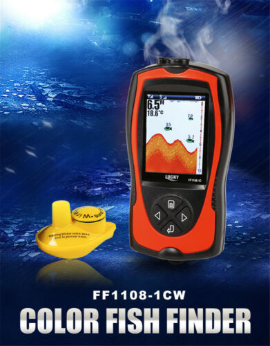 Lucky Wireless FF1108-1CW Fish Finder Color Screen Sonar Smart Waterproof  LCD