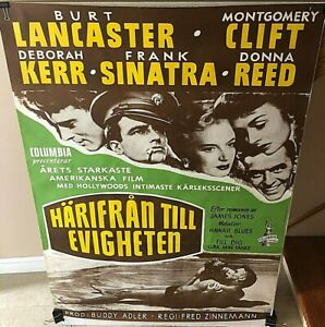 034-FROM-HERE-TO-ETERNITY-034-INSANELY-RARE-ORIG-1953-034-FULL-BLEED-034-SWEDISH-1-SH-POSTER