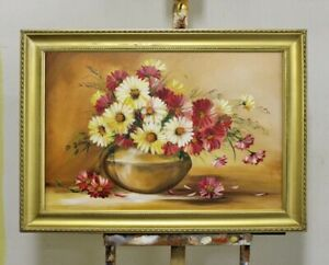 Painting-Flowers-Handmade-Oil-Painting-Picture-Oil-Frame-Pictures-G95771