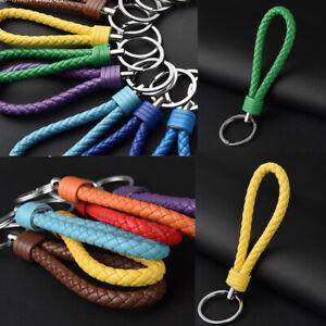 Fashion Ring Keyring Holder Pendant Keychain Keyfob Key Car Chain Leather Gifts