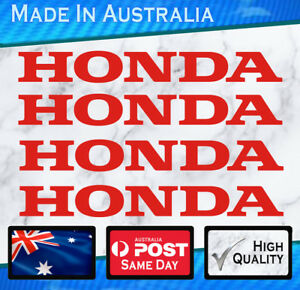 Honda-style-Stickers-Red-set-of-4-JDM-Civic-Nissan-Outboard-Bike-decal