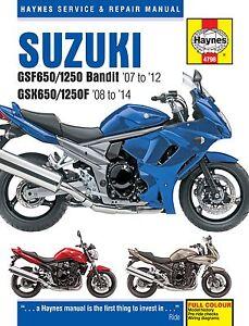 haynes manual 4798 suzuki gsf650 1250 bandit gsx650 1250f rh ebay com Suzuki DR650 Service Manual Suzuki RM 125 Repair Manual