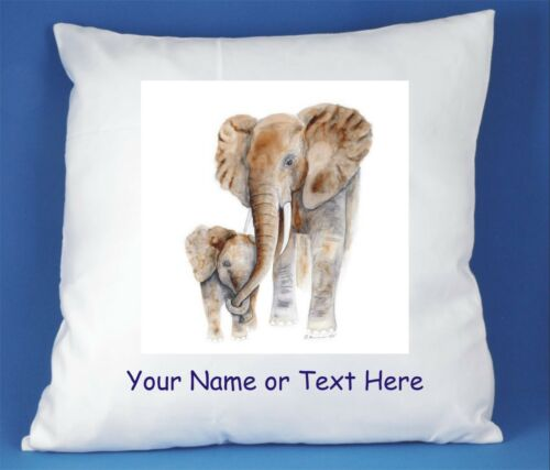 ELEPHANT LUXURY SATIN CUSHION COVER CAN BE PERSONALISED #1