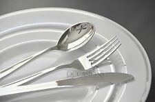 """"""" OCCASIONS """" Wedding Disposable Plastic Party Plates & Silverware set Combo"""