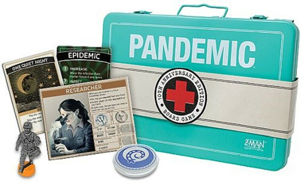 Z-Man Games: Pandemic - 10th Anniversary Edition game  Nuovo