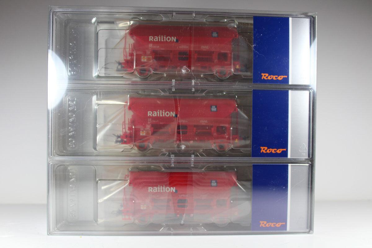 Roco 76175 set  3 piezas schwenkdachwagen, DB AG EP. V, productos nuevos.