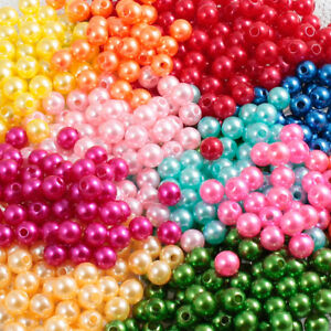 50-300pcs-Acrylic-Round-Pearl-Spacer-Loose-Beads-4-10mm-Jewelry-Making-DIY-TOP