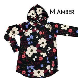 Lularoe Amber Hoodie Size Medium Multicolor Floral Print Nwt Ebay