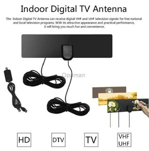 HD Digital TV Antenna for Indoors ( no tools , no drilling ... on
