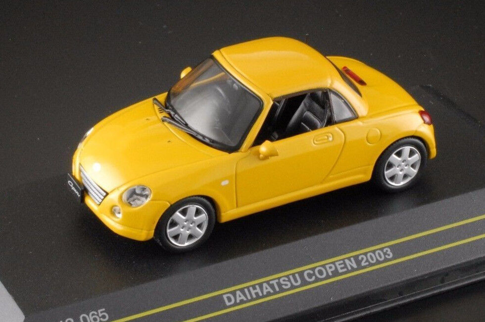 Wonderful modelcar DAIHATSU COPEN RHD 2003 - yellow yellow yellow  - scale 1 43 fdd01d