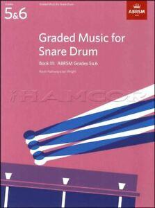 Classé Music For Snare Drum Book 3 Abrsm Grade 5-6 Examen Sheet Music Book-afficher Le Titre D'origine