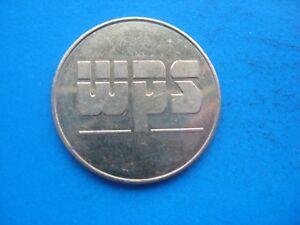 (E) W.P.S.  CAR WASH GOLD COLOURED TOKEN COIN