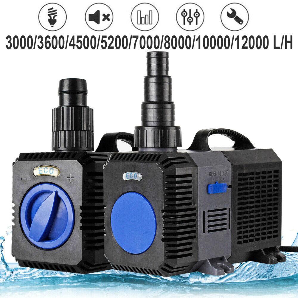 PRO 3000-12000l h Teichpumpe SuperECO CTP Bachlaufpumpe Filterpumpe WasserPumpe