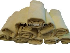 12-Soft-MICROFIBRE-Cloths-Car-Detailing-Valeting-360gsm-Waterless-Wash-16-034-x-16-034