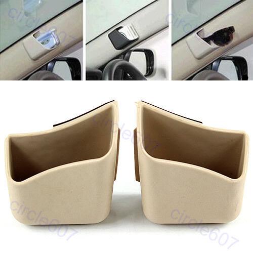 2 Car Auto Truck Pillar Pocket Holder Storage Box Cigarette Cellphone Glasses BG