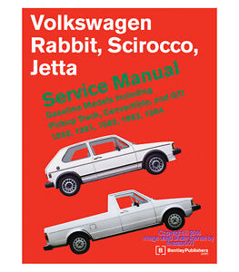 new diagram book repair guide service manual for vw gti jetta rabbit rh ebay com vw rabbit workshop manual vw rabbit workshop manual