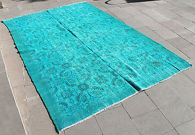 "Turkish Rug 71""x117"" Hand Woven Wool Overdyed Isparta Carpet 182x300cm"