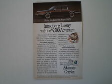 advertising Pubblicità 1991 CHRYSLER NEWYORKER NEW YORKER FIFTH AVENUE